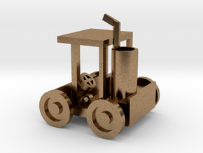 Small Golf Car in Natural Brass