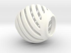 Pandora Charm Geo 1 in White Processed Versatile Plastic