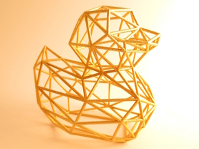 Ducky - your contemporary bathroom duck in Matte Gold Steel