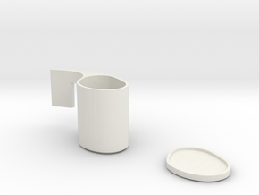 Cup And Saucer in White Natural Versatile Plastic