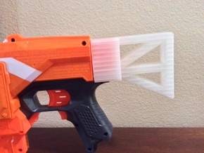 Nerf Gun But  in White Natural Versatile Plastic