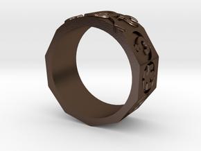 AdventureRing215 in Polished Bronze Steel
