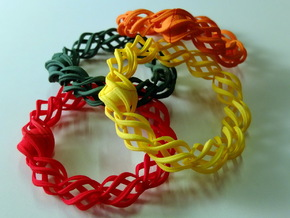 """Thistle"" 11 Seed Chain to close or conect ... in Red Processed Versatile Plastic"