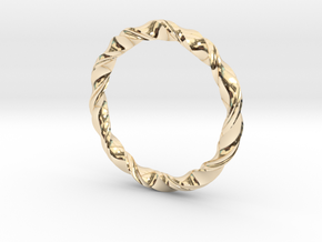 3D printed Bangle(Braclet) in 14k Gold Plated Brass