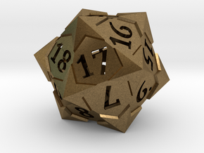'Starry' D20 Spindown Life Counter Die in Natural Bronze