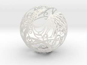 Dragon Sphere Ornament in White Natural Versatile Plastic