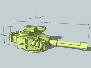 6mm Sci-Fi IFV Turrets (x12) in Smooth Fine Detail Plastic