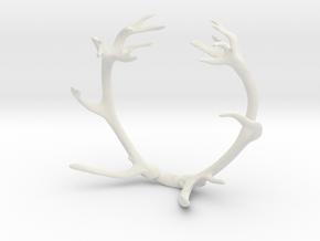 Red Deer Antler Bracelet 85mm in White Natural Versatile Plastic