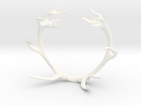 Red Deer Antler Bracelet 75mm in White Strong & Flexible Polished