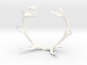 Red Deer Antler Bracelet 55mm in White Processed Versatile Plastic