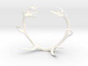Red Deer Antler Bracelet 55mm in White Strong & Flexible Polished