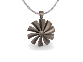 Turbine pendant in Stainless Steel
