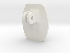 Custom GoPro Adapter in White Natural Versatile Plastic