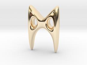 RUNE - M in 14k Gold Plated Brass