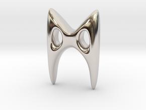 RUNE - M in Rhodium Plated Brass