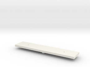 Dz Wagon Chassis in White Natural Versatile Plastic