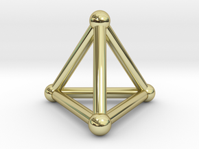 0277 Tetrahedron V&E (S&B) (a=10mm) in 18k Gold