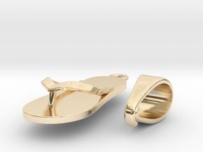 Flip-flop Pendant in 14K Yellow Gold