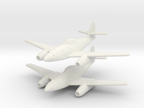 1/200 Messerschmitt Me-262A (x2) in White Natural Versatile Plastic
