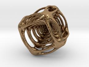 Alien Cube in Natural Brass
