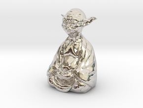 YodaBudda in Rhodium Plated Brass