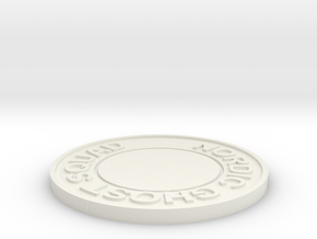 Nordic Ghost Squad Challenge Coin v3 in White Natural Versatile Plastic