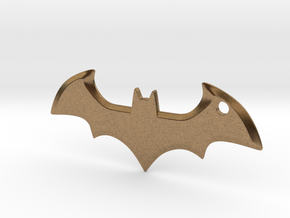 Batman logo keychain in Natural Brass