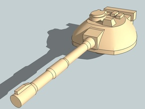 6mm Sci-Fi Tank Turrets x12 in Smooth Fine Detail Plastic