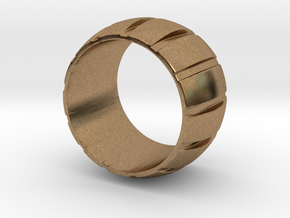 Smoothed Gear Ring - Size 6 in Natural Brass