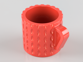 Espresso Cup in Red Processed Versatile Plastic