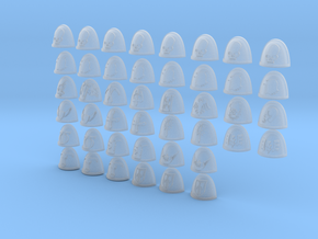 28mm Custom Pad Collection in Smooth Fine Detail Plastic