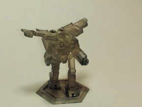 Mecha- Crusher LAM BattleMech (1/285th) in White Natural Versatile Plastic