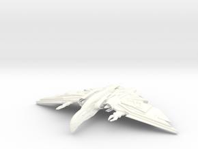 Praetor Class Destroyer in White Processed Versatile Plastic