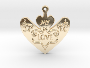 My Love My Life Necklace in 14k Gold Plated Brass