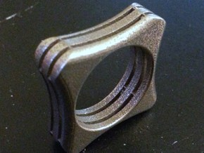 Skeleton Ring - Size 11 in Polished Bronzed Silver Steel