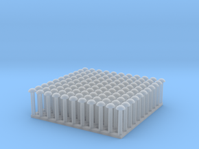 "1:24 Round Rivet Set (Size: 1.125"") in Smooth Fine Detail Plastic"