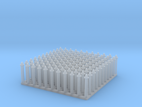 "1:24 Hex Nut-Bolt-Washer Set (Size: 0.5"") in Smooth Fine Detail Plastic"