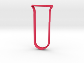 Test Tube cookie cutter in Pink Processed Versatile Plastic