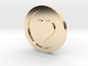 Love Coin in 14k Gold Plated Brass