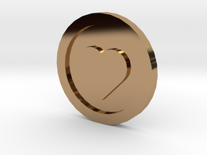 Love Coin in Polished Brass