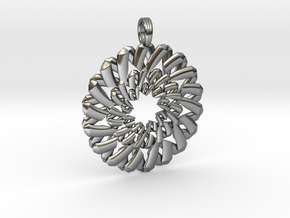 ENNEAGRAM FLOWER in Fine Detail Polished Silver