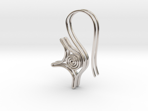 Spiral earrings in Rhodium Plated Brass