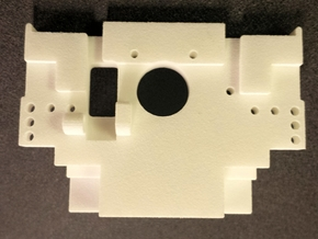 Ten4 Rear Bulkhead in White Processed Versatile Plastic