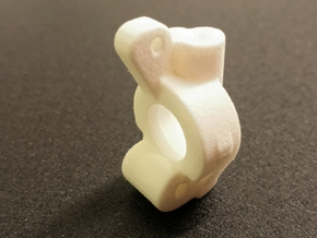 Ten4 Caster Block- Right in White Processed Versatile Plastic