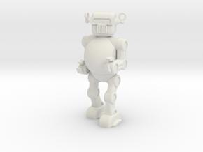 Retro 50's Toy Robot in White Natural Versatile Plastic