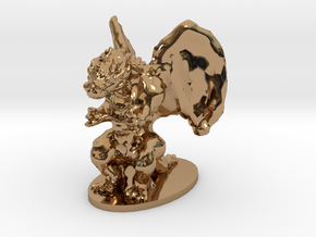 Dragon Miniature in Polished Brass