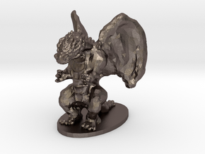 Dragon Miniature in Polished Bronzed Silver Steel