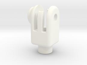 Head-set-cap-mount in White Processed Versatile Plastic