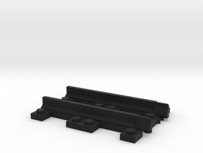 Narrow Gauge Straight - Adapter in Black Natural Versatile Plastic