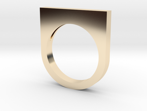 Fanclub Ring II in 14k Gold Plated Brass